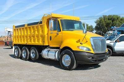 2011 International ProStar Premium Tri Axle Heavy Duty Dump Truck - Cummins  ISX, 450HP, 10 Speed Transmission