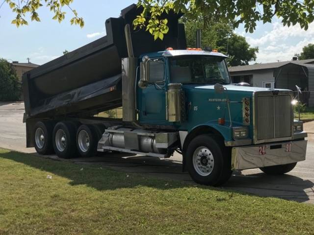 1997 Western Star 4900 Series Tri Axle Dump Truck, Detroit 60 Series,  500HP, 13 Speed For Sale, 751,000 Miles   Online Wholesale Deal, TX  