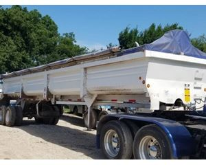 Lufkin End Dump Trailer 37x96x90, Closed Axle
