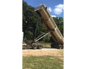 Lufkin End Dump Trailer 38, Closed Axle