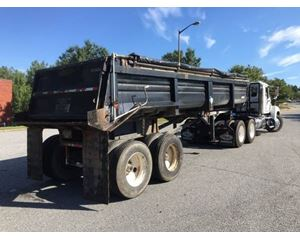 Lufkin End Dump Trailer 27, Closed Axle