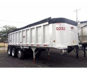 Travis End Dump Trailer 26x102x54, Tri Axle