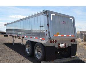 Travis End Dump Trailer 35, Aluminum, Closed Axle