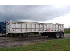 Travis End Dump Trailer 35x102, Aluminum, Closed Axle