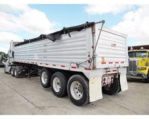 Travis End Dump Trailer 33x96, Aluminum, Tri Axle