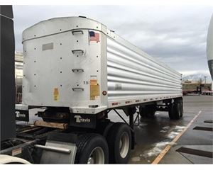 Travis Wave Style End Dump Trailer 39x102, Closed Axle, Water Tight