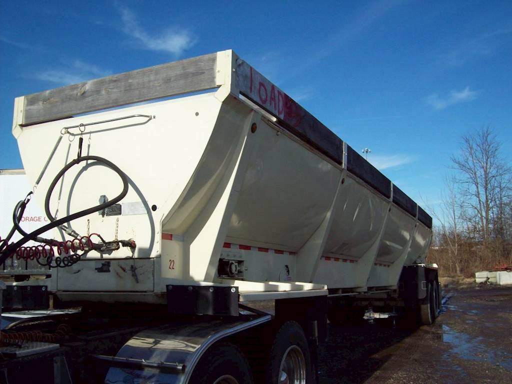 2001 Flow Boy End Dump Trailer Steel Frame Chain Oilers