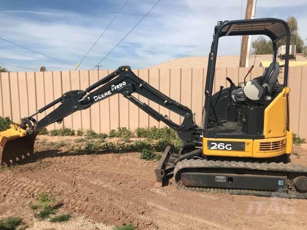 2017 John Deere 26G Excavator - Hours 450, 36 inch Bucket, Hydraulic For  Sale, 450 Hours | Online Wholesale Deal, TX | 9680260 | MyLittleSalesman com