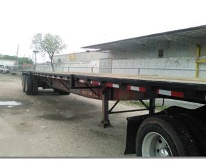 Lufkin Flatbed Trailer 48x102, Sliding Axle