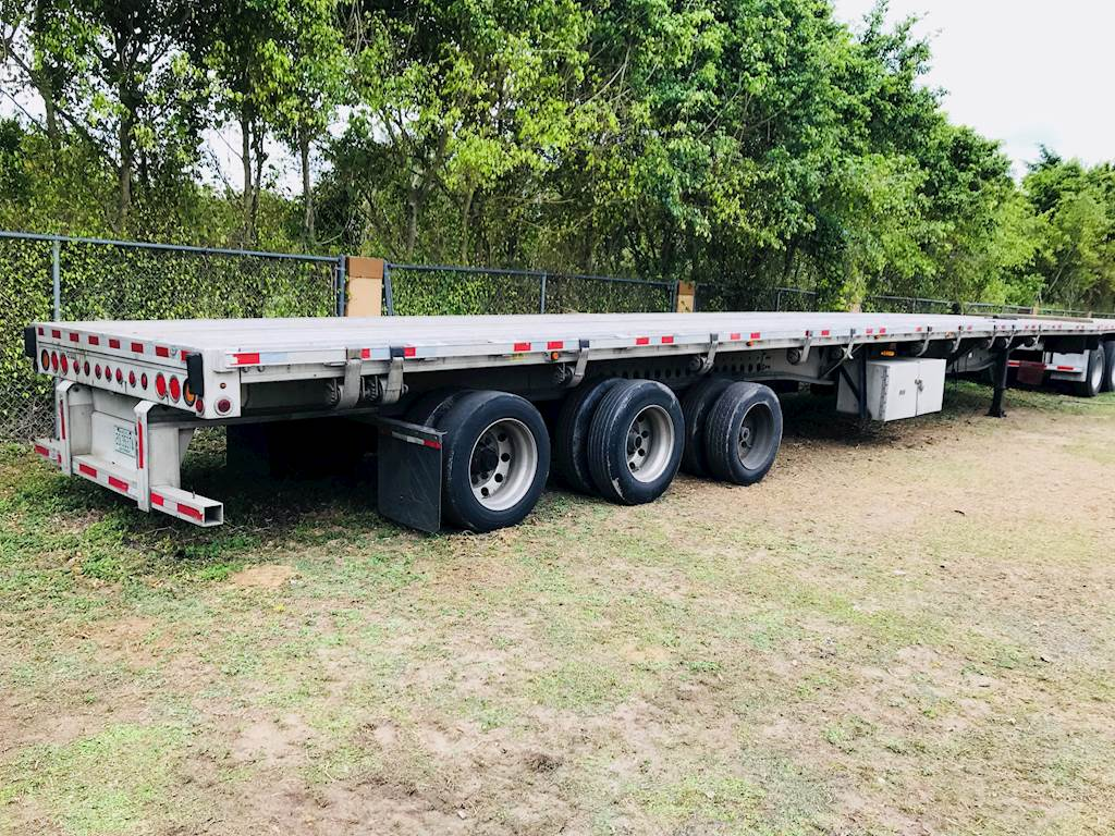 Tri Axle Flatbed : Manac flatbed trailer aluminum tri axle for