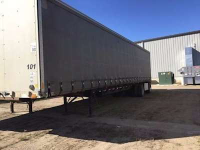 1999 Transcraft 48x102 Curtain Side Trailer Spread Axle 225 Tires