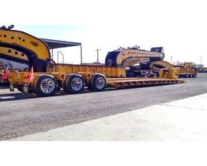 Load King Lowboy Trailer 55 Ton, Tri Axle