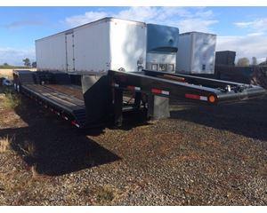 North Star Lowboy Trailer 48x96, Closed Axle, Hydraulic Detach, Pony Motor