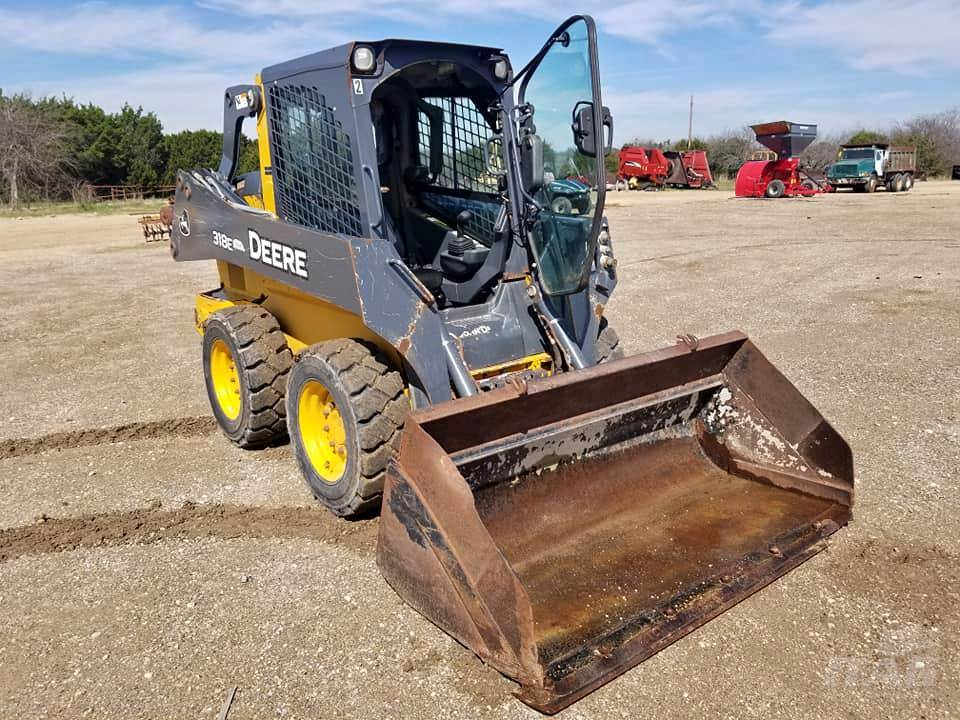 John Deere Skid Steer >> 2014 John Deere 318e Skid Steer 1 751 Hours Enclosed Cab A C