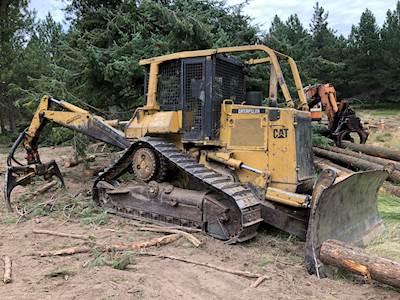 Caterpillar D5H TSK Forestry Dozer with ESCO Grapple