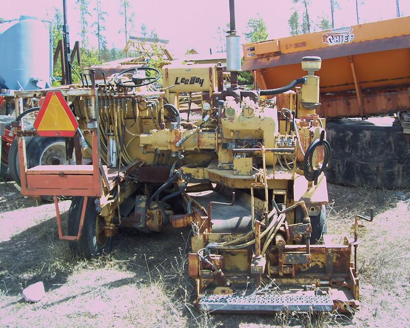 1984 Leeboy Road Widener For Sale Seely Lake Mt John