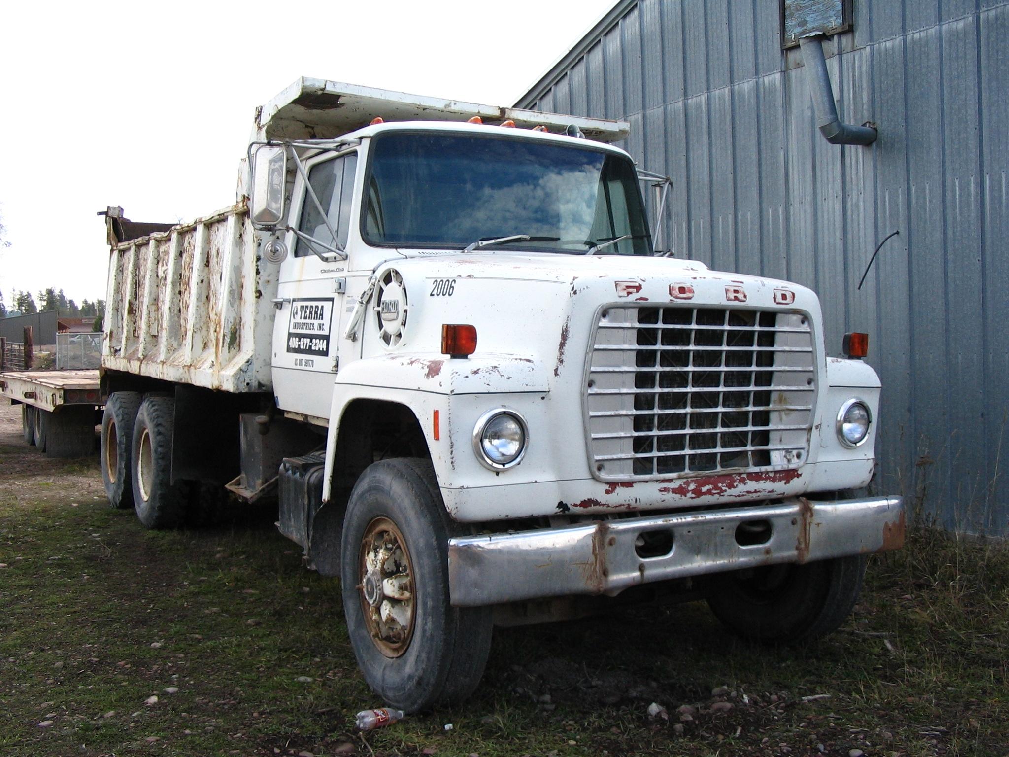 ford 8000 dump truck for sale seely lake mt 236786. Black Bedroom Furniture Sets. Home Design Ideas