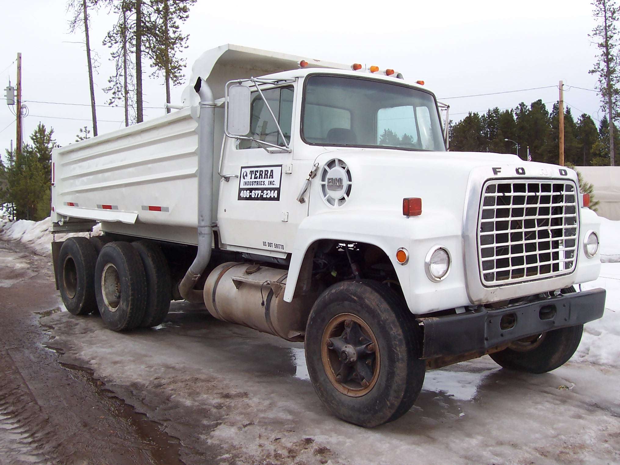1979 Ford Lt9000 Dump Truck For Sale Seely Lake Mt 236784