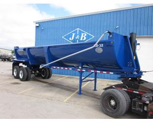 4T MFG HR32 End Dump Semi Trailer