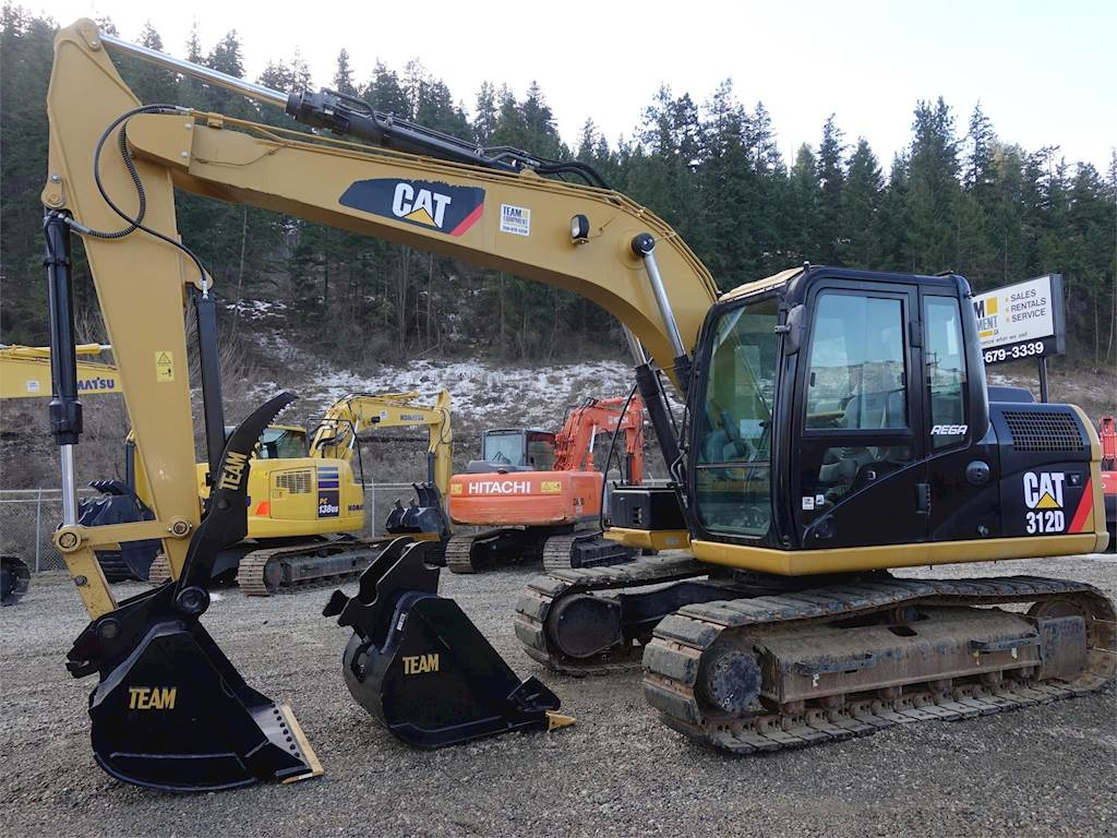 2013 Caterpillar 312D Excavator For Sale, 1,300 Hours | Chase, BC