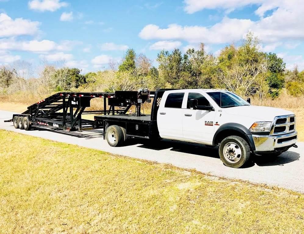 2017 RAM 5500 HD Single Axle Flatbed Truck, Cummins, Automatic