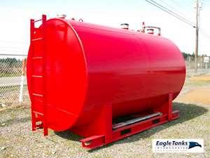 Eagle Tanks 2,000 Gallon Double Wall Horizontal UL 142 Fuel Tank
