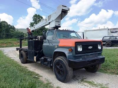1977 GMC C65 Crane Truck Bucket Truck 12000 Crane 5332-Miles V8 Manual  Transmission Tool Boxes Works Excellent