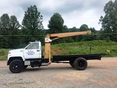 1993 GMC C8500 Crane Truck 14' Flatbed Cat 3116 Diesel Engine 7000 LB  Capacity New Tires Runs Great