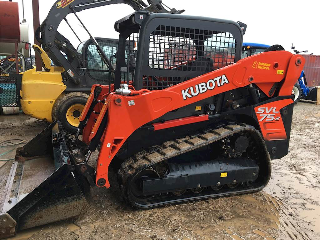 Track Loader For Sale >> 2018 Kubota Svl75 2 Compact Track Loader For Sale 115 Hours