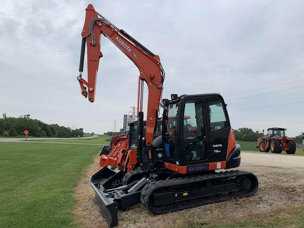 2019 Kubota KX080-4 Excavator For Sale | Wataga, IL | KUB055