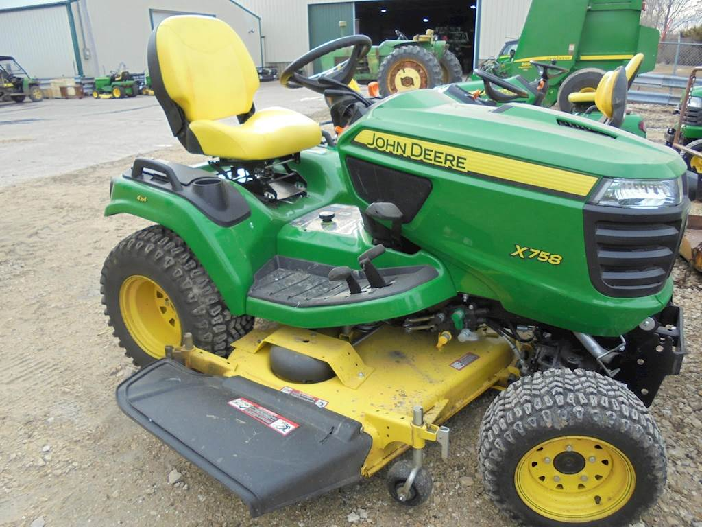 2017 john deere x758 riding lawn mower for sale 69 hours rh mylittlesalesman com John Deere X758 Problems 4x4 John Deere X758