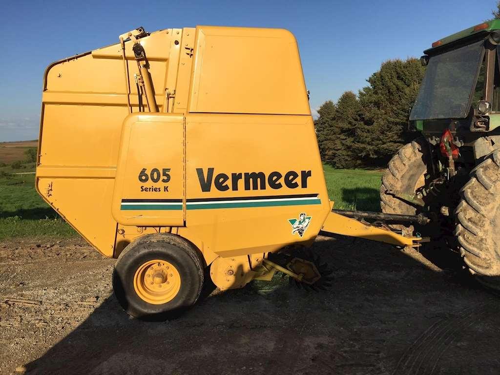 1997 vermeer 605k round baler