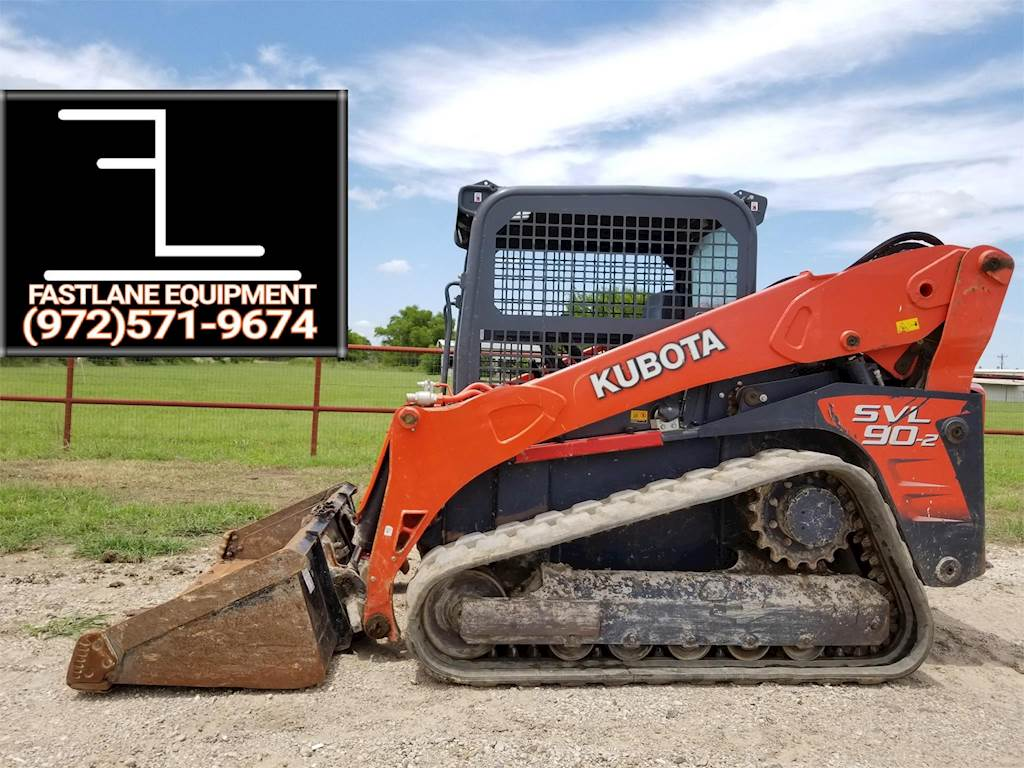 Track Loader For Sale >> 2014 Kubota Svl90 2 Compact Track Loader For Sale Kemp Tx