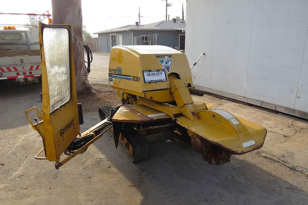 Vermeer Stump Grinder For Sale >> 2000 Vermeer Sc505 Diesel Self Propelled Autosweep Stump Grinder For