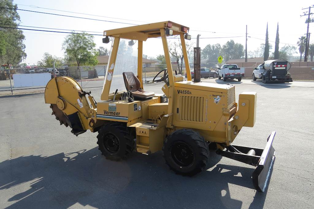 Vermeer Stump Grinder For Sale >> 2000 Vermeer V4150a Diesel 4x4 Stump Grinder W Back Blade For Sale