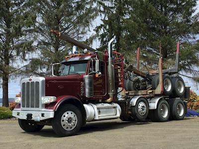 2012 Peterbilt 388 Logging Truck - ISX 525, 18 spd, 46k dbl lockers