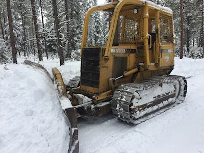 1993 John Deere 650G Forestry Dozer HD Rock Guards 120 Blade With Brush Guard Sweeps Full Screens