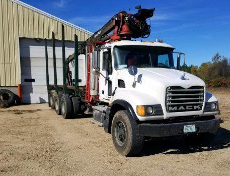 2004 Mack Granite with Prentice 120C Log Loader
