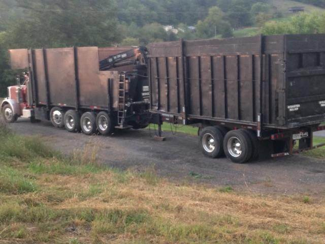 How long is a log truck trailer