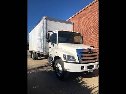 2015 Hino 268a Box Truck 26ft Box 3000 Mason Lift Gate Under