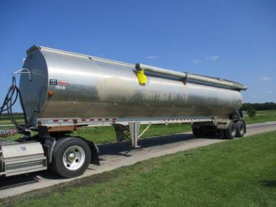 2007 CEI PACER AT35ML BULK FEED TRAILER   POWERFLOW AUGER SYSTEM   WIRELESS REMOTE SYSTEM   CONTINUOUS FILL AIR TOP LIDS   KT PACER