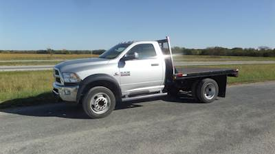 2018 Dodge Ram 5500 Tradesman Flatbed Truck, Cummins Motor, 4wd, 60