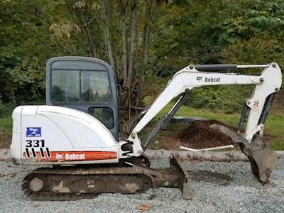 2008 Bobcat 331 G Excavator - 2,583 Hours, Kubota Diesel