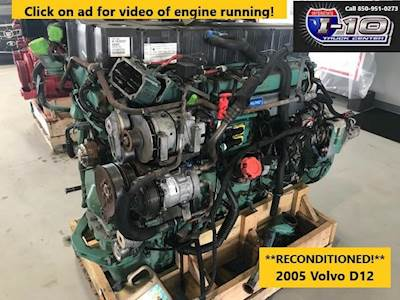 2005 Volvo VED 12 Engine - RECONDITIONED RUNNING TAKEOUT - 465HP -  N-1639215 D12*420986*D2*A FAMILY 4VTXH12.150S For Sale   Defuniak Springs,  FL   8939   MyLittleSalesman.com   Volvo D12a Engine Diagram      My Little Salesman