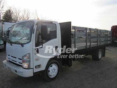 Flatbed For Sale >> 2012 Isuzu Nrr Single Axle Flatbed Truck 4hk1tc 10 215 2500 215hp 6 Speed Automatic
