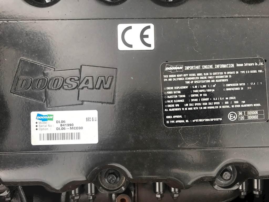 2018 Doosan DX140 LC Excavator