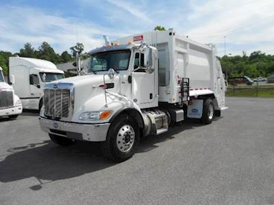2019 Peterbilt 337 Garbage Truck - Heil PT1000 20 Cubic Yard Rear Loader w/  3 Cu Yd Hopper