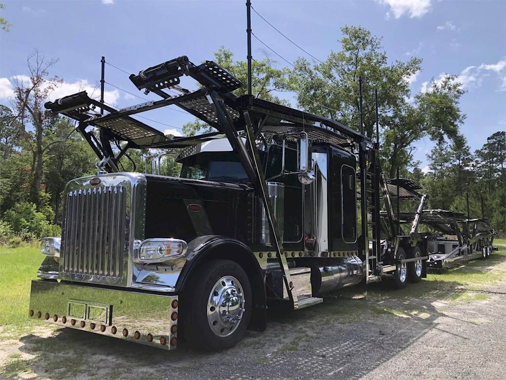 2019 Peterbilt 389 Tandem Axle Car Carrier Truck - Cummins X15