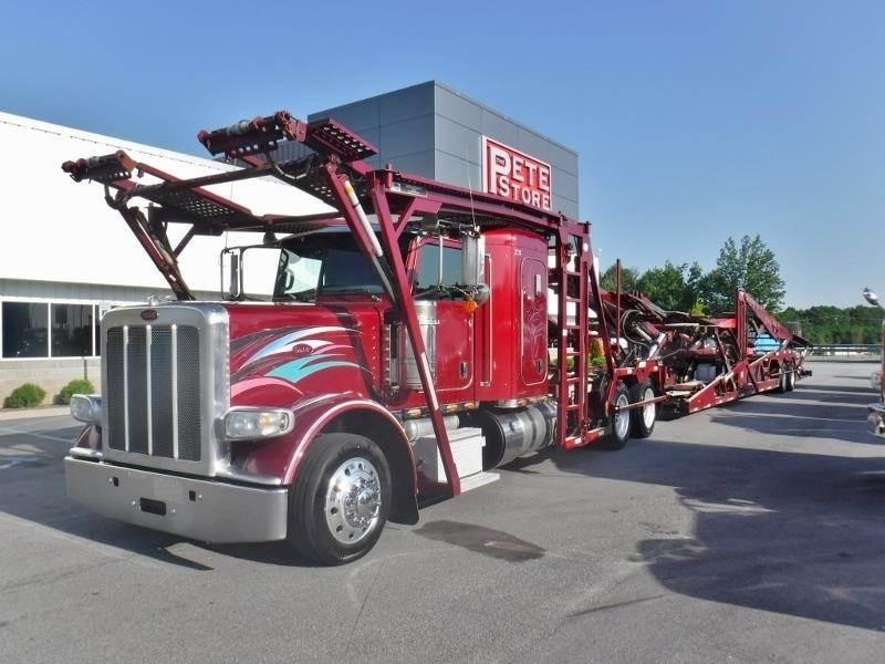 2014 Peterbilt 389 Tandem Axle Car Carrier Truck - Cummins, 485HP, Manual  For Sale, 453,138 Miles   Duncan, SC   U234584   MyLittleSalesman com