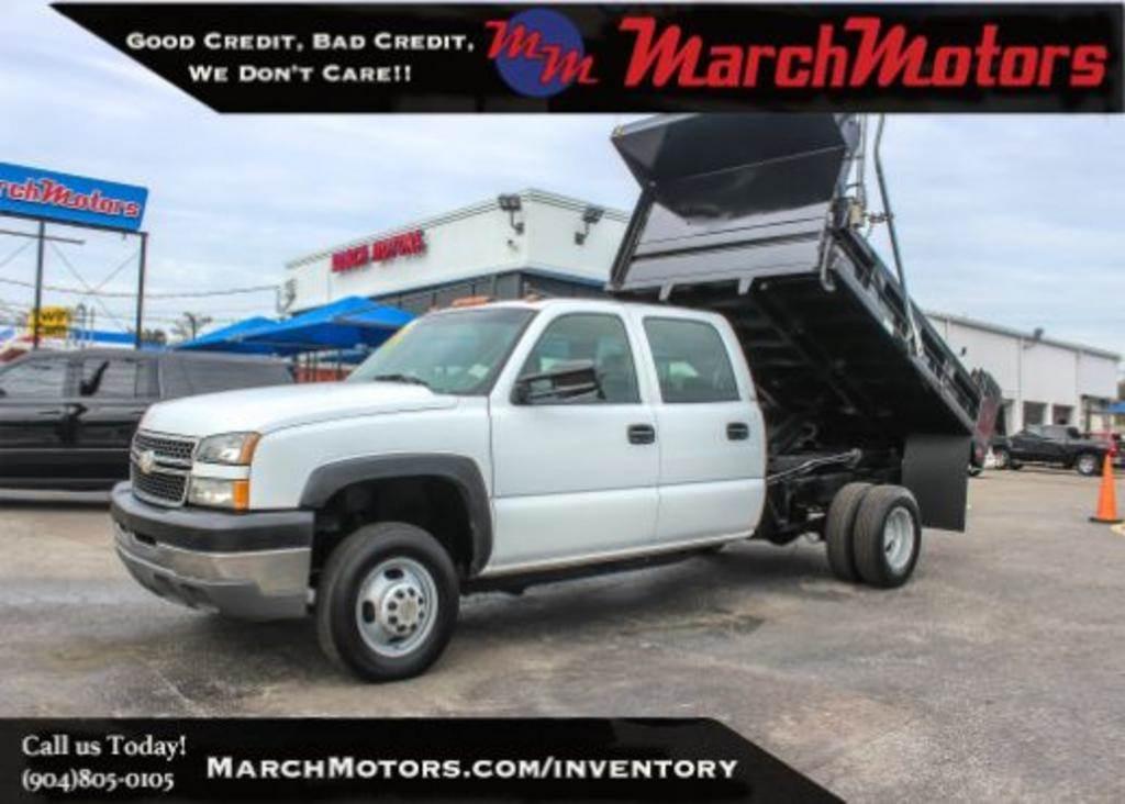 March Motors Jacksonville Fl >> 2005 Chevrolet 3500 Crew Cab 2wd Dump Truck For Sale 107 764 Miles Jacksonville Fl 11588 Mylittlesalesman Com